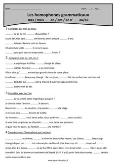 on - ont - on n'; French Language Lessons, French Language Learning, French Lessons, French Teacher, Teaching French, How To Speak French, Learn French, Les Homophones, Classroom Arrangement