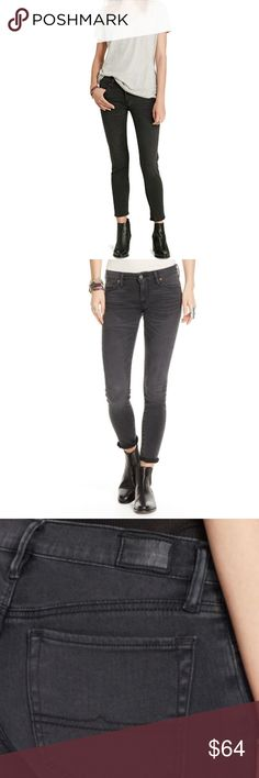 """DENIM AND SUPPLY ALTON CROP SKINNY JEANS - BLACK ITEM IS NEW WITH TAGS  A special wash gives this sleek cropped, skinny fit style a timeworn look.  Color:Black  DETAILS: Zip fly with a signature Denim & Supply engraved shank closure Belt loops Five-pocket styling with signature D&S engraved metal rivets American flag patch with an overlapping stitched """"Denim & Supply Ralph Lauren"""" distressed logo patch at the back right waist Skinny fit Cotton, polyester, elastane Machine washable Denim…"""