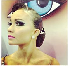 Ballroom hair and makeup for dance competition