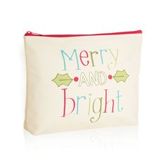 Zipper Pouch in Merry & Bright for $15 - Available for a limited time only, this cute holiday-themed Zipper Pouch is perfect for the season! Give as a gift with goodies inside or use it yourself to store your tablet, makeup, snacks or coupons – the uses are endless. Via @thirtyonegifts