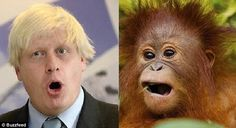 Ooh! Boris and a youngster make themselves heard