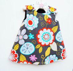 Tweet Birdie Tweet  Gray Color  Toddler Girls by KKchildrendesigns, $35.00