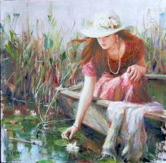 vidan paintings | BY THE POND, BY VIDAN | Art ~ Vidan