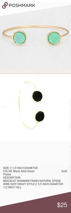 Shimmer Druzy Wire Cuff Bracelet! $25/ each  $45 / 2 bracelets Farah Jewelry Jewelry Bracelets