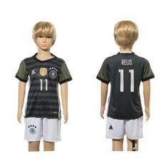 Tyskland Trøje Børn 2016 Marco #Reus 11 Udebanetrøje Kort ærmer,199,62KR,shirtshopservice@gmail.com
