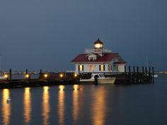 lighthouses in north carolina   Dusk-Roanoke Marshes-Lighthouse-Manteo-North Carolina by mikemellinger ...