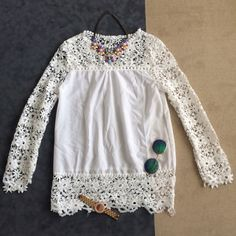 Pretty blouse Very elegant and classy blouse. Perfect to pair with a pencil skirt for work or style with skinny jeans and heels. NWOT. Tops Blouses
