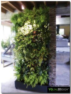 Mur végétal modulable pour intérieur. http://www.mur-vegetal-interieur.fr/