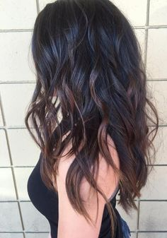 Image result for black hair balayage