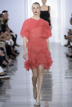 Feminine ruffles gave spring looks a touch of fancy and romance.