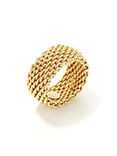 Estate Jewelry Somerset Woven Band Ring