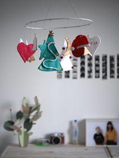DIY mobile de Noël