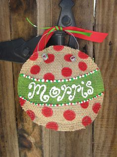 Burlap Ornament by CailynsCreations on Etsy, $10.00