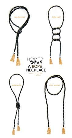 DIFFERENT WAYS TO TIE HOMEMADE BEADED NECKLACES - Google Search