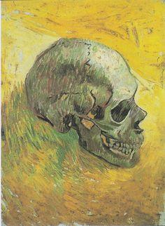 Skull (Side) (Artist: Vincent Van Gogh) c. 1887 - Masterpiece Classic (Art Print Available) Vincent Van Gogh, Art Van, Vanitas, Van Gogh Arte, Skull Painting, Painting Art, Van Gogh Paintings, Kunst Poster, Impressionism Art