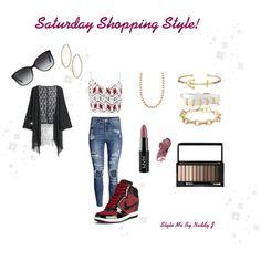 Weekend Shopping Style by stylemebynaddyj on Polyvore featuring MANGO, H&M, NIKE, Bulgari and NYX