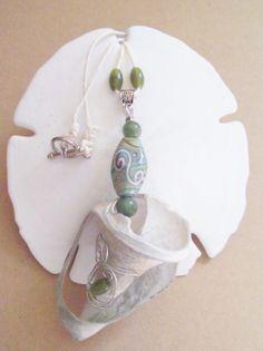 Mermaid cup broken shell necklace by regiooaksartist on Etsy, $15.00