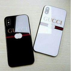 光沢 グッチGUCCI iPhoneX/7/8 plusケース 男女向けiphone10ケース 光るペアケース かっこいい白 黒 #iphone10,