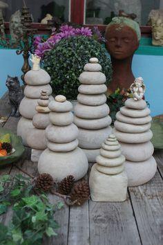 Garten Deko aus Beton und Damenstrümpfen. DIY Anleitung wie am es macht bei you tube unter Andrea Langhanki