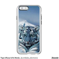 Tiger iPhone 6/6s Metalic Case. Silver, gold or rose gold.