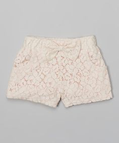 Take+a+look+at+the+Pink+Lace+Shorts+-+Girls+on+#zulily+today!