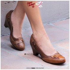 Un tacón ligero y cómodo para ti.   #confort #leather #shoes #girl #fashion
