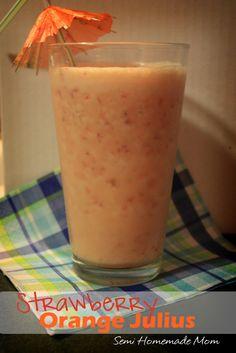 Semi Homemade Mom: Strawberry Orange Julius - Crazy Cooking Challenge