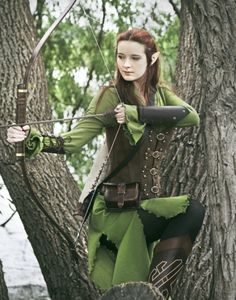 Grunes elfenkleid