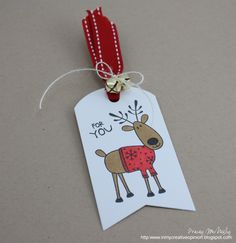 In My Creative Opinion: 25 Days of Christmas Tags 25 Days Of Christmas, Christmas Gift Tags, Christmas Crafts, Handmade Tags, Tag Design, Hero Arts, Mini Albums, Creative, Cards
