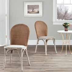 @Overstock - Sophistication and great attention to detail was used in designing this regal side chair set. This set features an etched antiqued oak finish wood frame and taupe linen seating.http://www.overstock.com/Home-Garden/La-Rochelle-Antiqued-Oak-Finish-Taupe-Side-Chair-Set-of-2/6585131/product.html?CID=214117 $309.99