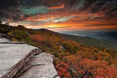 """""""Rough Ridge Milepost 302 by Daniel Burleson"""" is a perfect location  for photographing the fall foliage. The hike to the top can be a bit strenuous, but is worth it. This location is on the Blue Ridge Parkway in NC."""