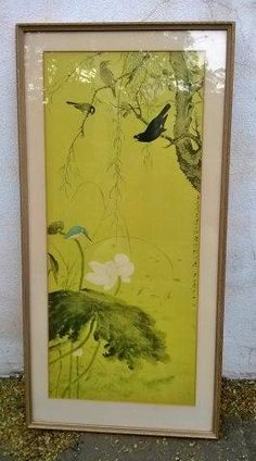 Japanese print, birds and flowers