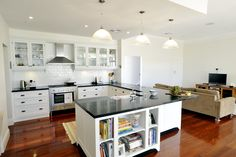 Renovated kitchen to post-war home. Beautiful attention to detail in this modern and chic home renovation.
