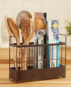 The Countertop Wrap and Utensil Organizer offers easy storage for kitchen items. It features 3 compartments that hold