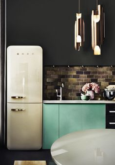 pastel retro kitchen