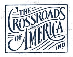 "art: ""Crossroads of America"" $85 stretched canvas {via 50 and 50, where 50 artists, one from each state, create their state motto} Indiana {my home state} by Jeremy Paul Beasley."