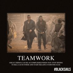 Teamwork! » Captain Flint & Captain Vane! - Black Sails » starz.com