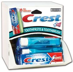 Crest Travel Toothpaste and Brush Combo Dispensit Case 144 pcs sku 1865430MA >>> Details can be found by clicking on the image.