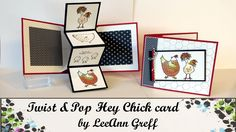 Watch to learn how to make this incredibly fun interactive card. Blog link: http://flowerbug.typepad.com/my_weblog/2017/01/hey-chick-twist-pop-card-with-vide...