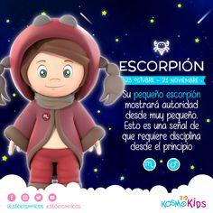 El pequeño #Escorpión requiere disciplina desde muy temprana edad. #Niño #360KosmoKids #Astrología Educativa Infantil #Horóscopo #Zodiaco