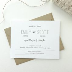 PAPER SAMPLES Earth Wedding Save the Date / Rustic Save the Dates / Save The Date / Kraft Save the Dates / Simple Save the Date