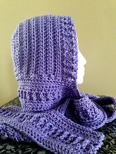 This intermediate hooded scarf pattern will keep you warm and cozy during the cold winter months. It is designed to give the wearer a more fitted result. It can be completed in a day, or work it for shorter periods of time throughout the week.