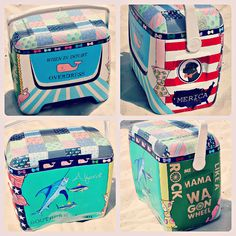 Click the picture to learn tips for painting your awesome cooler ♥ ------- Painted cooler Diy Cooler, Coolest Cooler, Fraternity Coolers, Frat Coolers, Cute Crafts, Diy Crafts, Bubba Keg, Cooler Designs, Cooler Painting