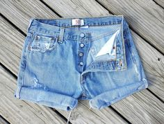 Vintage LEVI 501 Button Fly Jean Shorts  HIGH by TomieHarlene, $18.00