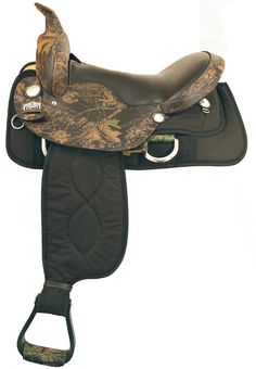 Big Horn Mossy Oak Saddle www.americansaddleryinc.com