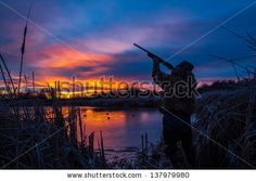 Prior to a Christmas duck hunt; I went out to a pond in Pendleton, Oregon during the blue hour (about 25 minutes before sunrise) and set up this self portrait of myself. Title: Christmas Duck Hunt by Dalo Collis, via ShutterStock Whitetail Deer Hunting, Waterfowl Hunting, Hunting Art, Duck Hunting, Pendleton Oregon, Christmas Duck, One Duck, Duck Pictures, Duck Season