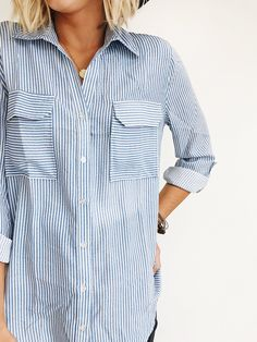 Striped Button Up Shirt | ROOLEE