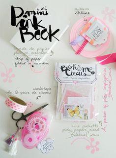 BOH`EME CIRCUS - DIY - mini pink book