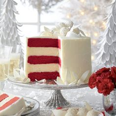 Red Velvet-White Chocolate Cheesecake - Heavenly Holiday Desserts - Southern Living