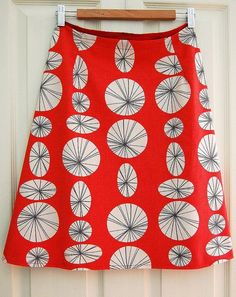 A line skirt tutorial and pattern designing